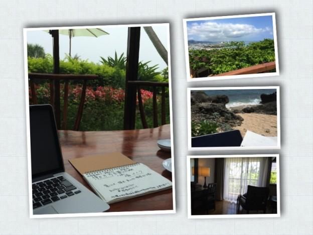 リラックスしたON。沖縄でひとり。